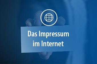 Eine Visitenkarte mit dem Text: Impressum im Internet