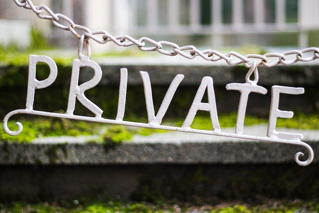 "Schild ""Privat"""