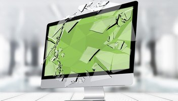 Kaputter Computer Bildschirm